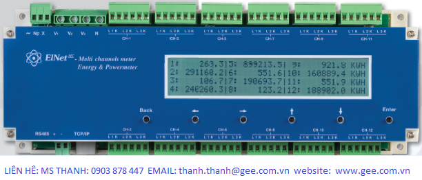 Elnet LTC Power Factor Controller 16 Step Network TCP-RS485  www.gee.com.vn   1 .png