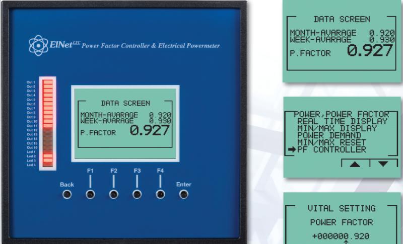 Elnet LTC Power Factor Controller 16 Step Network TCP-RS485  www.gee.com.vn.png