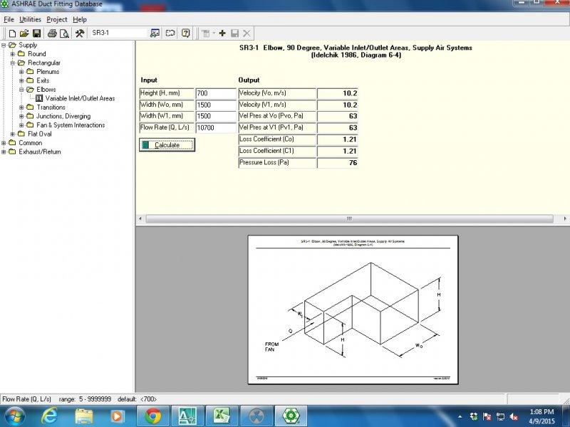 Ashrae duct fitting database v5. 0. 10 4mechengineer ashrae duct.